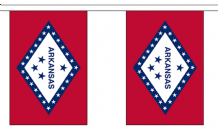 ARKANSAS (U.S. STATE) BUNTING - 3 METRES 10 FLAGS